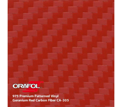 Oracal 975 3D Geranium Red Carbon 1.524 m