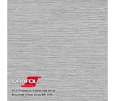 Oracal 975 Brushed Premium Structure Cast Silver Gray 1.524 m