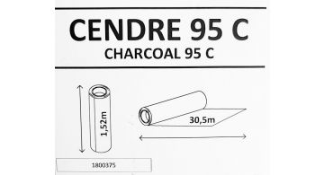 Solar Screen Cendre Charcoal 95 С 1.524 m