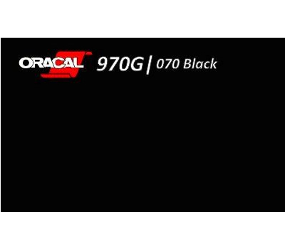 Oracal 970 Black Gloss 070 RA 1.524 m