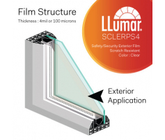 LLumar SHE CL ER PS 7 Safety Clear Exterior 1.52 m