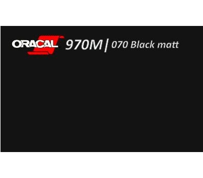 Oracal 970 Black Matt 070 1.524 m