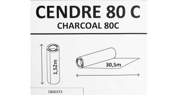 Solar Screen Cendre Charcoal 80 С 1.524 m