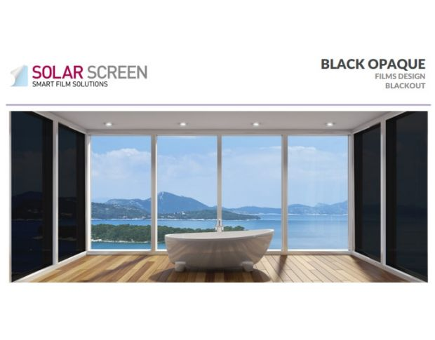 Solar Screen Blackout Black Opaque 1.524 m